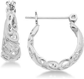 Essentials Filigree Hoop Earrings in Silver- and Gold-Plate