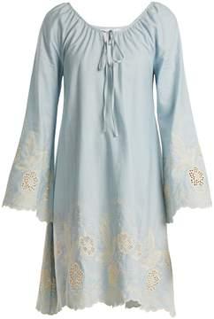 Athena PROCOPIOU Gypset floral-embroidered cotton dress