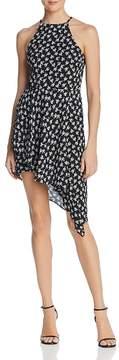 Aqua Asymmetric Floral Print Dress - 100% Exclusive