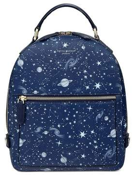 Aspinal of London Constellation Backpack In Navy Constellation Print