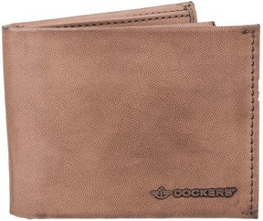 Dockers Men's RFID-Blocking Leather Extra Capacity Slimfold Wallet