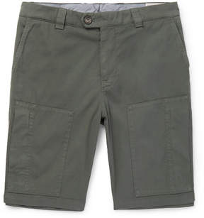 Brunello Cucinelli Stretch-Cotton Twill Shorts