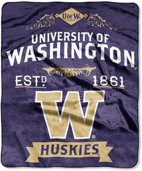 Northwest Company Washington Huskies Raschel Rebel Throw Blanket