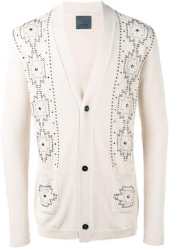 Laneus metallic embellished cardigan