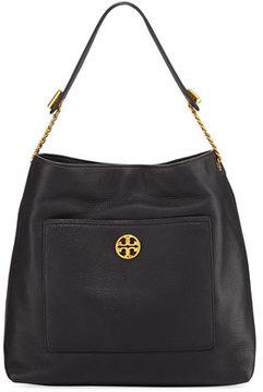 Tory Burch Chelsea Chain Leather Hobo Bag, Black - BLACK - STYLE