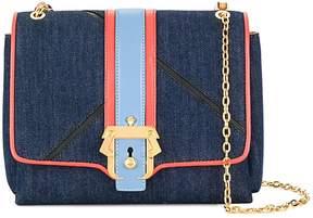 Paula Cademartori Alice Boho Denim And Leather Shoulder Bag