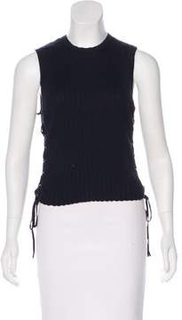 Autumn Cashmere Sleeveless Lace-Up Top