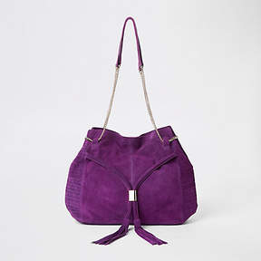 River Island Purple leathe chain slouch bag