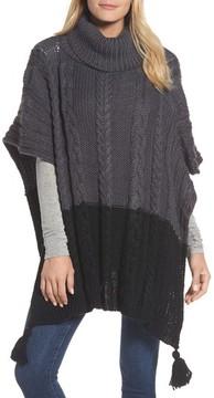 BCBGMAXAZRIA Women's Cable Knit Poncho