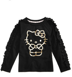 Hello Kitty Foil-Print Long-Sleeve Sweater, Little Girls (4-6X)