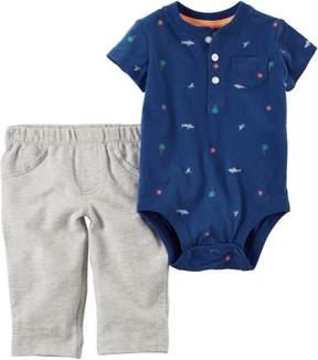 Carter's Baby Boys Shark Jogger Pants Set