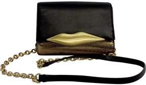 Diane von Furstenberg Black & Gold Lips Mini Crossbody