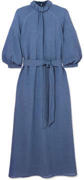 DAY Birger et Mikkelsen Cefinn - Belted Voile Midi Dress - Indigo