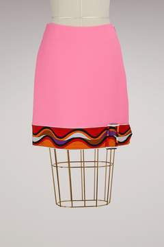 Emilio Pucci Belted Wool Skirt
