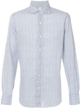 Finamore 1925 Napoli abstract print button-down shirt