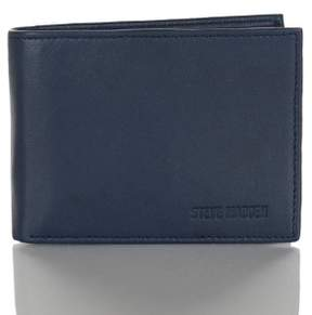 Steve Madden Mens Glove Leather RFID Blocking Passcase Wallet