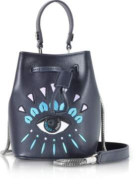 Kenzo Eye Ink Leather Mini Bucket Bag