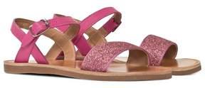 Pom D'Api Pom Dapi Pink Glitter Plagette Buckled Sandals