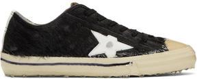 Golden Goose Deluxe Brand Black Pony V-Star 2 Sneakers
