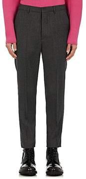 Ami Alexandre Mattiussi Men's Wool Flannel Flat-Front Trousers