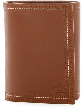 Original Penguin Glossy Leather Trifold Wallet