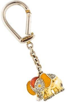 Judith Leiber Embellished Elephant Keychain