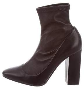 Tamara Mellon Leather Round-Toe Ankle Boots w/ Tags