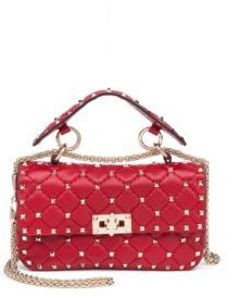 VALENTINO GARAVANI Rockstud Small Quilted Leather & Chain Top-Handle Bag