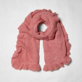 River Island Womens Pink frill trim knitted scarf