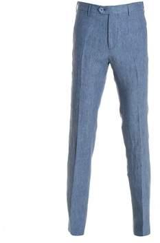 Berwich Men's Blue Linen Pants.