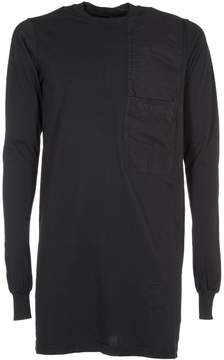 Drkshdw Rick Owens Chest-panel Jersey Top