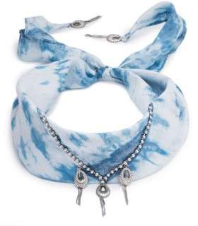 Dannijo Adira Tie-Dye Silk Bandana