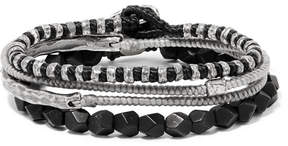 M. Cohen The Create Stack Silver Onyx Bracelet Set