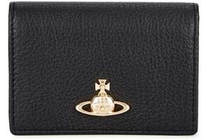Vivienne Westwood Balmoral Small Black Leather Card Holder
