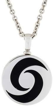 Bvlgari 18K Onyx Hypnotic Pendant Necklace