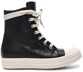 Rick Owens Leather Sneakers