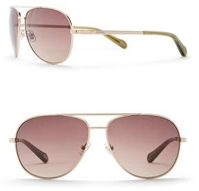Fossil Men's 59mm Aviator Sunglasses