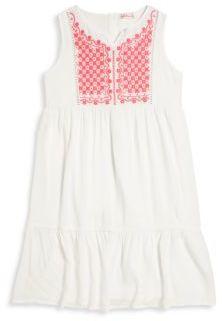 Design History Toddler's, Little Girl's, & Girl's Embroidered Mini Dress