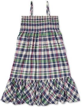 Polo Ralph Lauren Big Girls Cotton Madras Dress