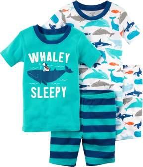 Carter's Toddler Boys 4-pc. Whaley Sleepy Pajama Set