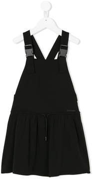 DKNY buckle detail dungaree dress