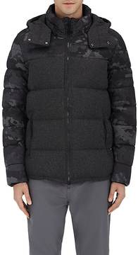 Isaora MEN'S WOOL-BLEND DOWN-QUILTED HOODED COAT