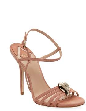 Aperlaï Women's Heart Leather High Heel Sandal