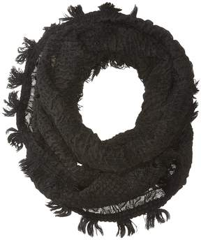 Collection XIIX Textured Chevron Fringe Loop Scarves