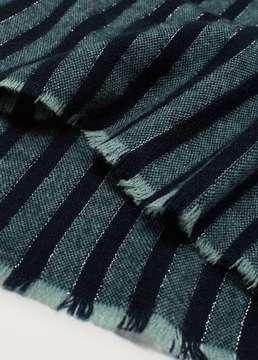 Violeta BY MANGO Bicolor striped scarf