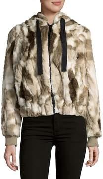 C&C California Women's Faux Fur Hooded Coat