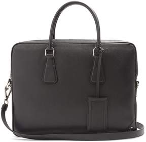 Prada ZIp-around saffiano-leather briefcase