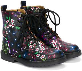 Pépé heritage flower print boots