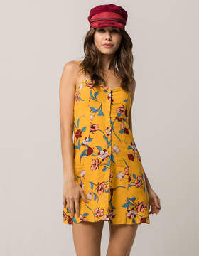 Band of Gypsies Floral Button Front Dress