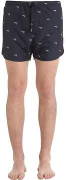 Neil Barrett Guns Printed Nylon Swim Shorts